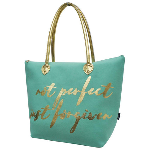 Not Perfect just Forgiven NGIL Gold Collection Tote Bag