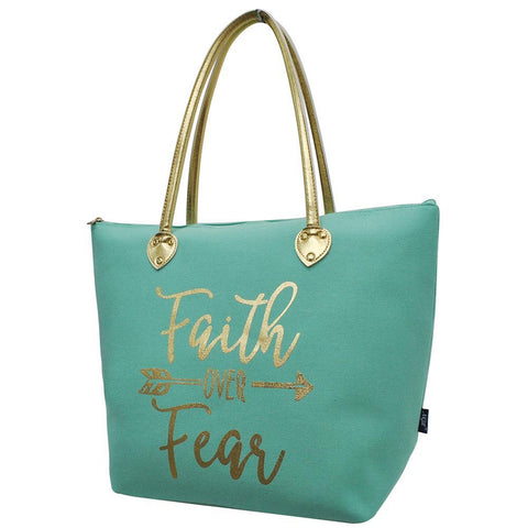 Faith Over Fear NGIL Gold Collection Tote Bag