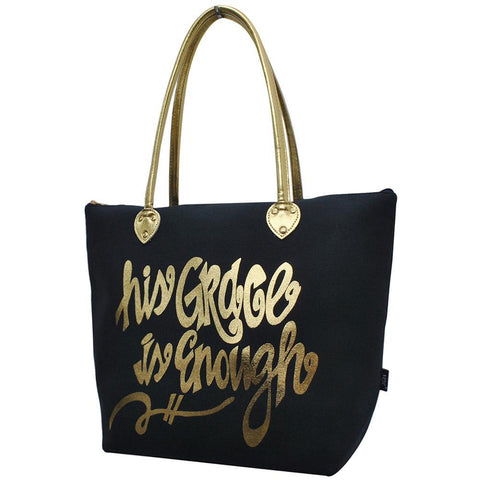His Grace is Enough NGIL Gold Collection Tote Bag