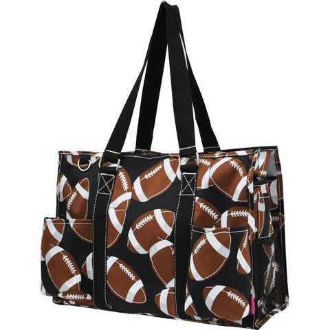 Football NGIL Zippered Caddy Organizer Tote Bag