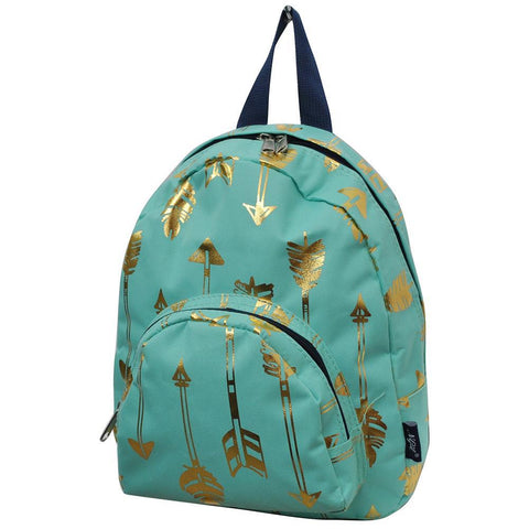 Gold Mint Arrow NGIL Canvas Mini Backpack