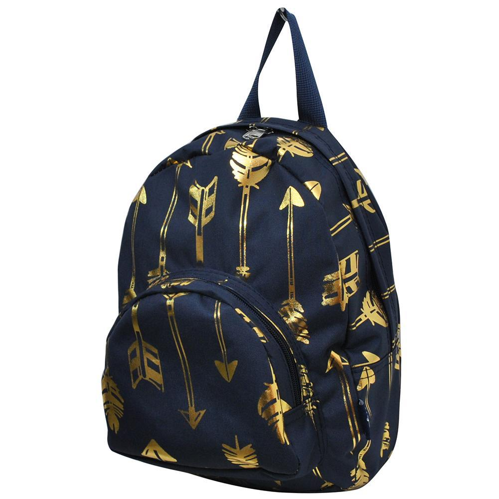 Gold Navy Arrow NGIL Canvas Mini Backpack