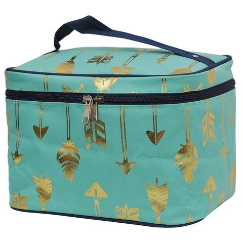 SALE ! Gold Mint Arrow NGIL Large Top Handle Cosmetic Case