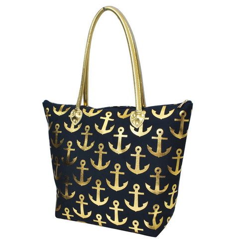 Tote for women zipper, navy tote bag, cute navy tote, navy anchor tote bag, navy beach bag, monogram tote bags in bulk, tote bags, monogram bags totes, monogram tote for women, monogram NGIL Brand, monogram travel accessories, monogram tote for women zipper, ngil utility tote,
