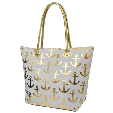 Gold Anchor White NGIL Gold Collection Tote Bag