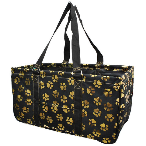 Monogram gift ideas for her, monogram tote bags, personalized tote bags in bulk, NGIL, teacher appreciation gift, gold puppy paw gifts, puppy paw tote bag, paw print totes,