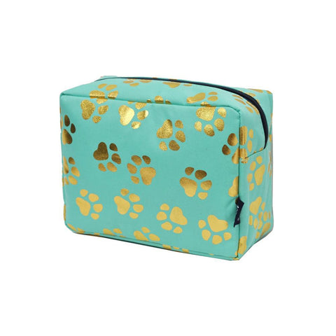 Gold Puppy Paw NGIL Large Cosmetic Traveling Pouch
