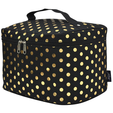polka dot makeup bag, makeup bag gold polka dot, gold polka dot cosmetic bag, black makeup bags wholesale, black makeup bags in bulk, black cosmetic case, Monogram cosmetic bag, makeup bag for teen girls, makeup bag for sale, makeup bag for lipstick, makeup organizer travel bag, best makeup bags personalized, cosmetic pouch personalized