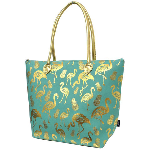 Gold Flamingo Mint NGIL Gold Collection Tote Bag