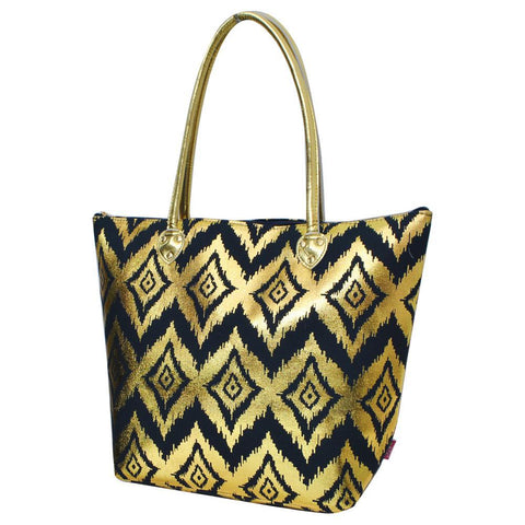 Gold Ikat Navy NGIL Gold Collection Tote Bag