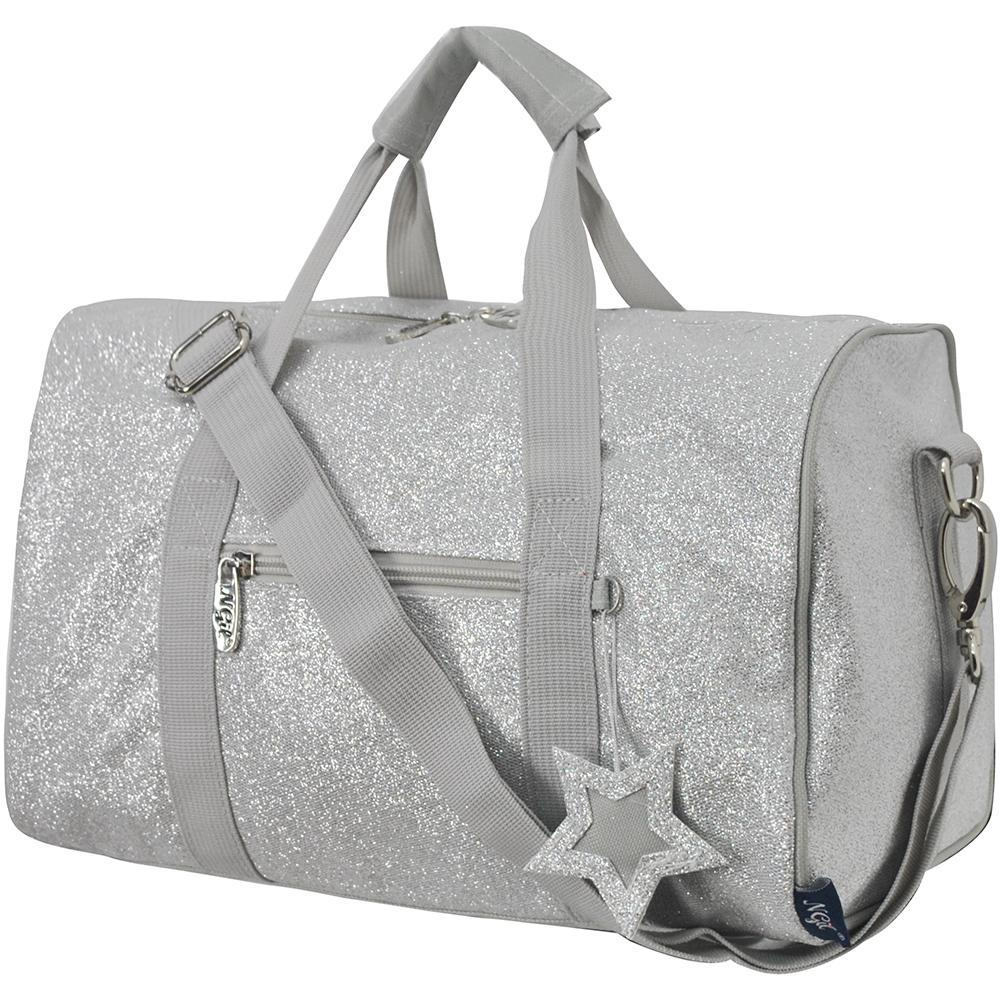 Glitter duffle bags for women large, silver duffle, mini silver duffle bag, wholesale cheer duffle bags, dance bag for dancers, personalized dance duffle bags, cheer gifts for team in bulk, cheer gifts or coaches, monogrammed duffle bags for women, personalized gifts for her.