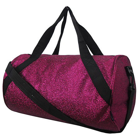 Hot Pink Medium Glitter NGIL Duffel Bag