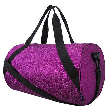 Purple Medium Glitter NGIL Duffel Bag