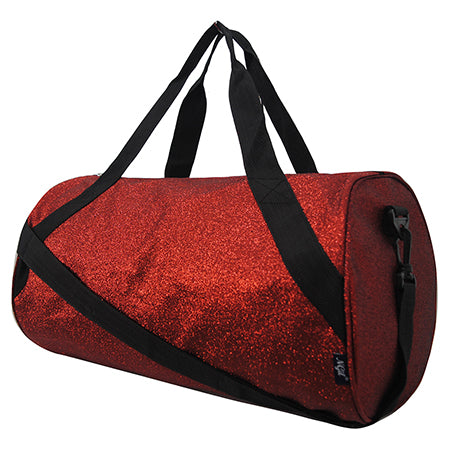 Red Medium Glitter NGIL Duffel Bag