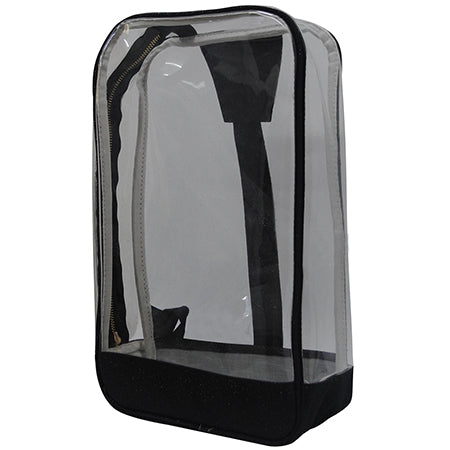 Black Glitter NGIL Clear Sling Backpack