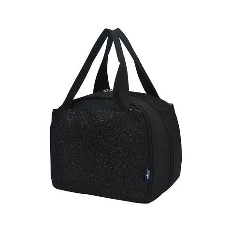 Black Glitter NGIL Insulated Lunch Bag