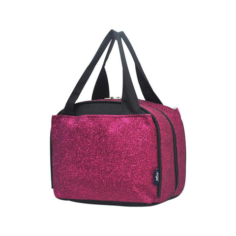 Hot Pink Glitter NGIL Insulated Lunch Bag