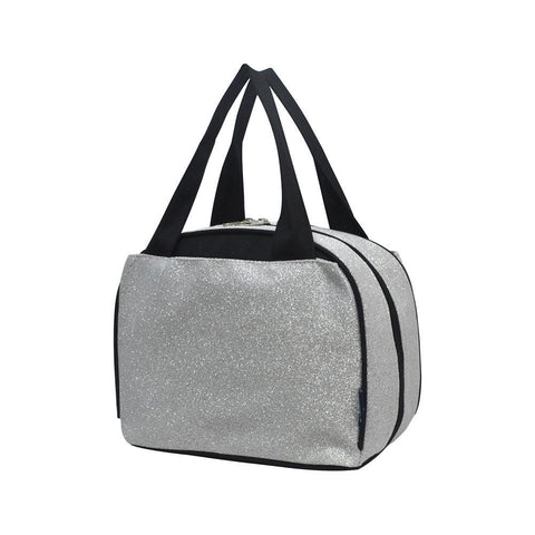 Silver Glitter NGIL Insulated Lunch Bag