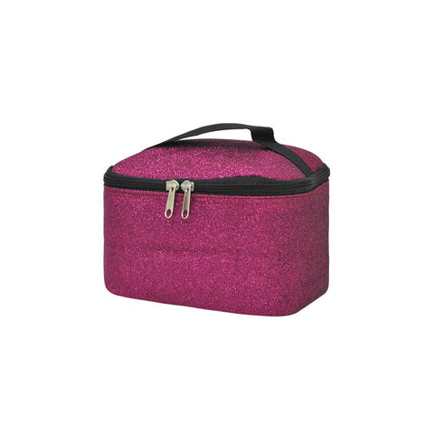 Hot Pink Glitter NGIL Cosmetic Case