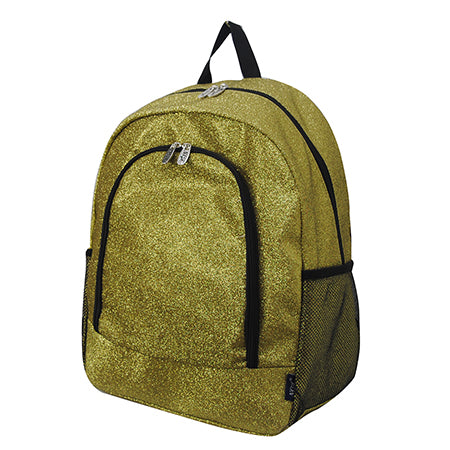 Gold Glitter NGIL Canvas School Backpack