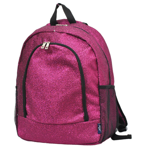 Hot Pink Glitter NGIL Canvas School Backpack