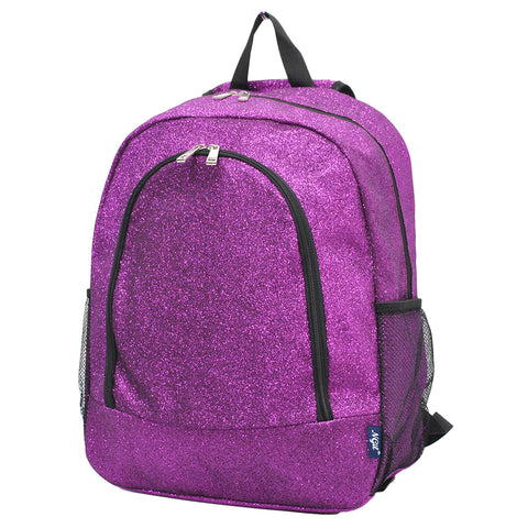 Purple Glitter NGIL Canvas School Backpack