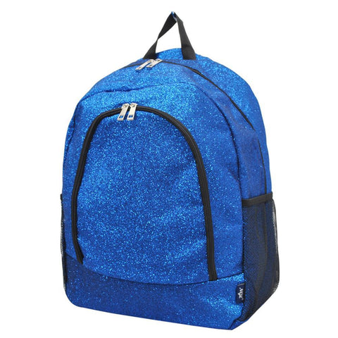 Royal Blue Glitter NGIL Canvas School Backpack