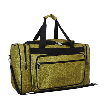 "Gold Glitter NGIL Canvas Carry on 20"" Duffle Bag"