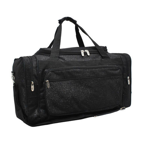 "Black Glitter NGIL Canvas Carry on 20"" Duffle Bag"