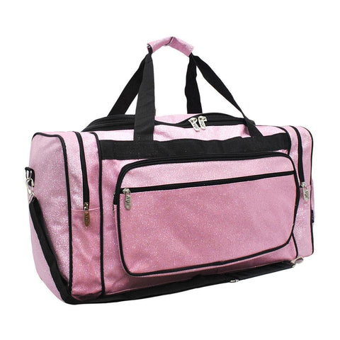 "Pink Glitter NGIL Canvas 20"" Duffle Bag"