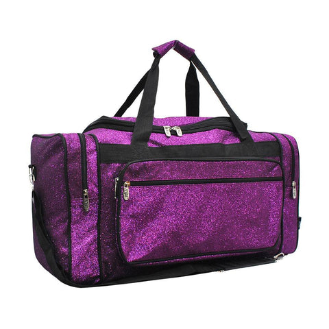 "Purple Glitter NGIL Canvas 20"" Duffle Bag"