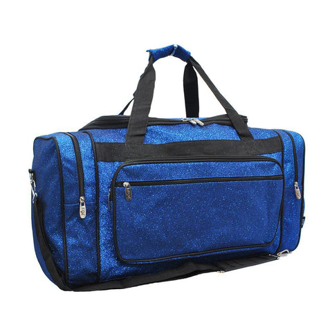 "Royal Blue Glitter NGIL Canvas 20"" Duffle Bag"