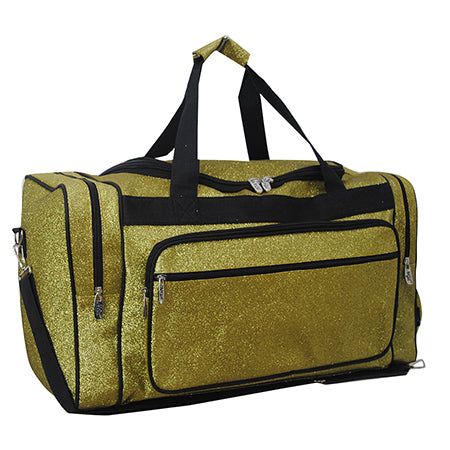 "Gold Glitter NGIL Canvas 23"" Duffle Bag"