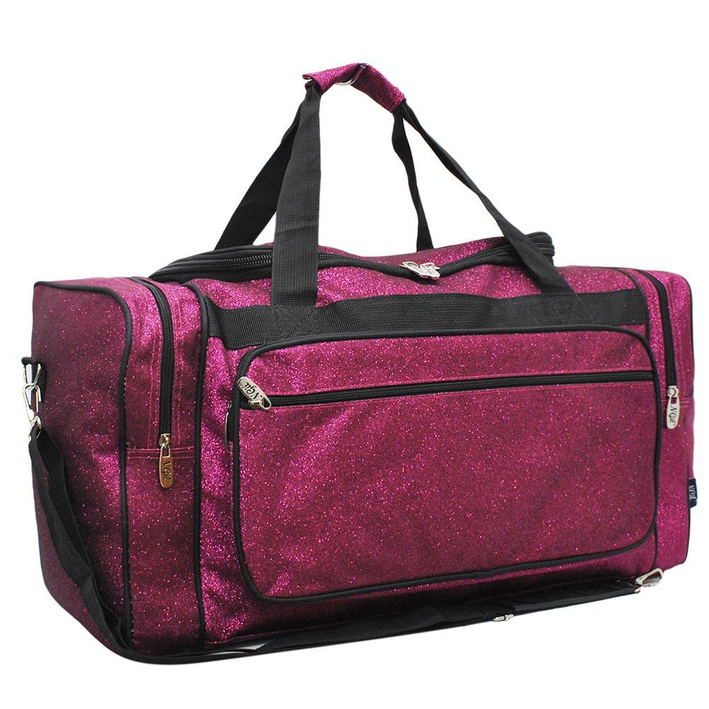 Glitter duffle bag for women, cheer duffle for girls personalized, dance bag essentials, dance personalized items, cheer competition bag, cheer gifts for girls, monogram duffle, hot pink cute duffle, duffle for the gym, duffle bag for the gym, personalized duffle bag for girls.