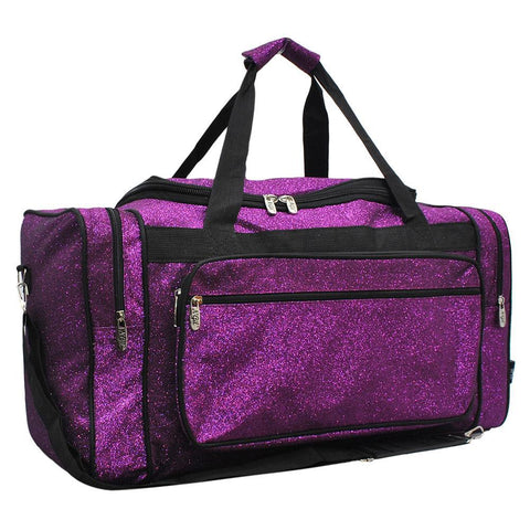 Glitter duffle bags for girls, cheer duffle bags for girls, purple glitter cheer bag, purple glitter dance bag, dance bag for girls personalized, dance personalized gifts, cheer competition 2019, cheer gifts for cheerleaders in bulk, monogram duffle bags, personalized duffels.