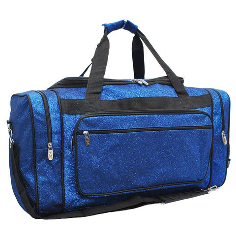 "Royal Blue Glitter NGIL Canvas 23"" Duffle Bag"