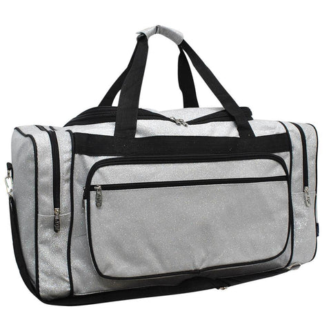 "Silver Glitter NGIL Canvas 23"" Duffle Bag"