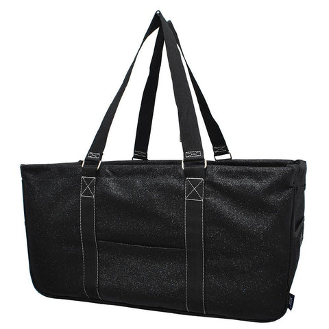 Black Glitter NGIL Utility Bag