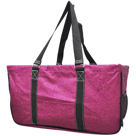 Hot Pink Glitter NGIL Utility Bag