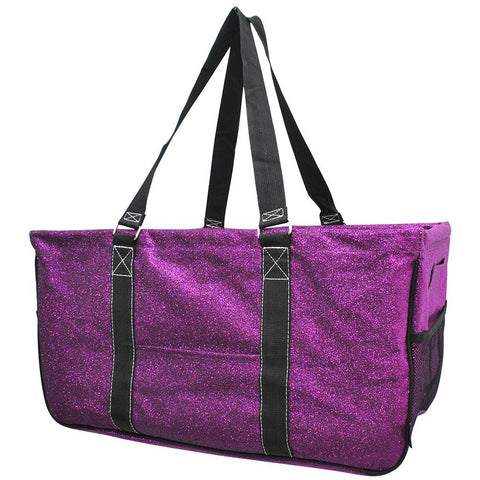 Purple Glitter NGIL Utility Bag