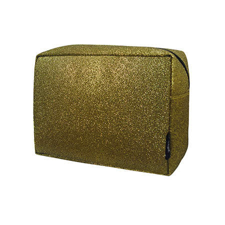 Gold Glitter NGIL Large Cosmetic Travel Pouch
