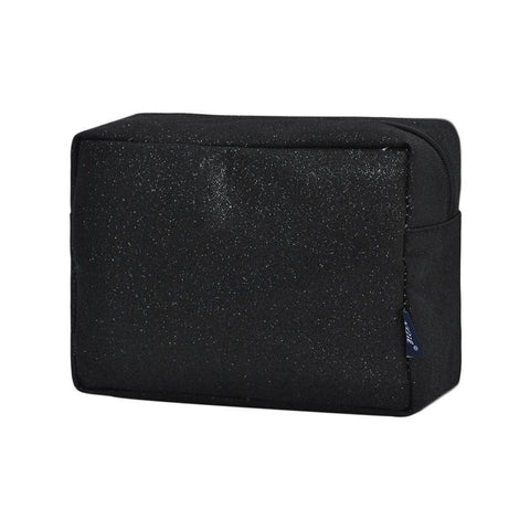 Black Glitter NGIL Large Cosmetic Travel Pouch