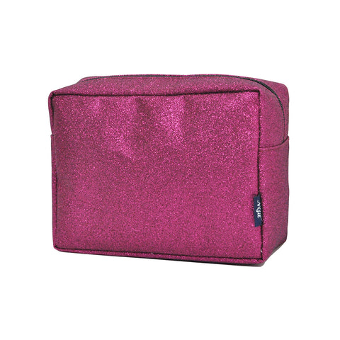 Hot Pink Glitter NGIL Large Cosmetic Travel Pouch