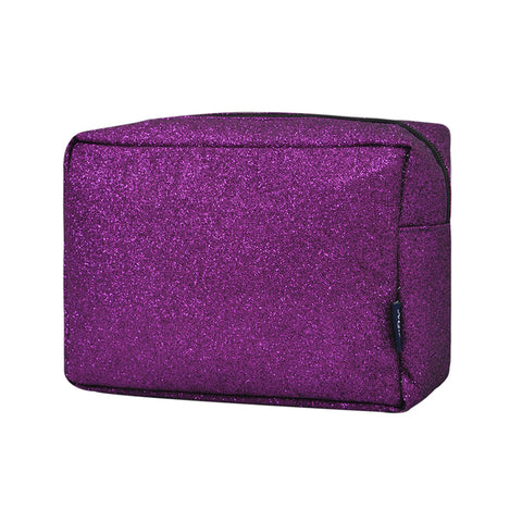 Purple Glitter NGIL Large Cosmetic Travel Pouch