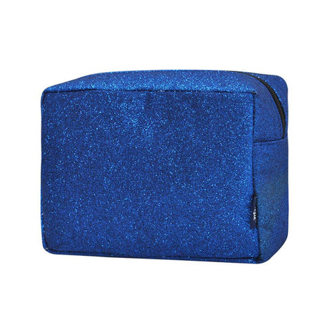 Royal Blue Glitter NGIL Large Cosmetic Travel Pouch