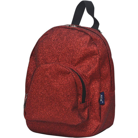 Red Glitter NGIL Mini Backpack