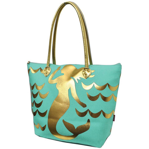 Gold Mermaid Mint NGIL Gold Collection Tote Bag