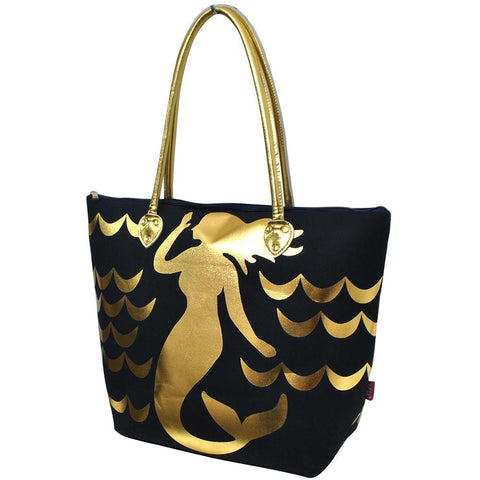 Gold Mermaid Navy NGIL Gold Collection Tote Bag