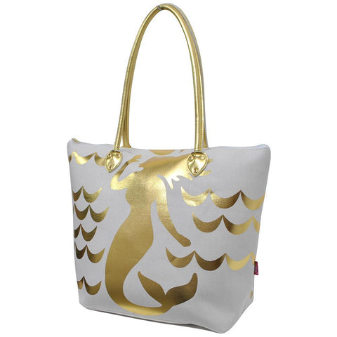 Gold Mermaid White NGIL Gold Collection Tote Bag