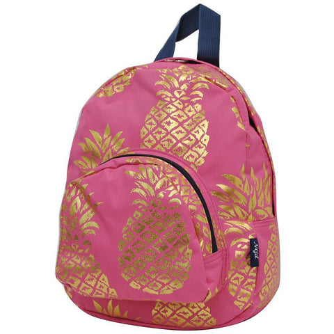 Gold Coral Southern Pineapple NGIL Canvas Mini Backpack